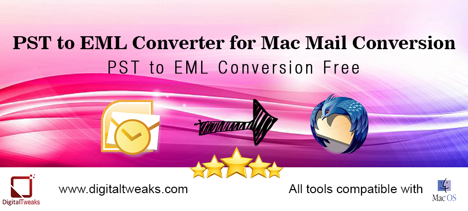 how to convert pst to eml for mac